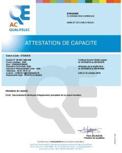 Qualifelec certificate